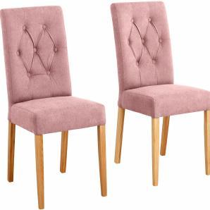 Home affaire Stühle »Regina«, rosa, 6er Set, Webstoff, FSC®-zertifiziert