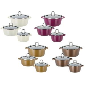 GSW Kochtopf-Set Gourmet Premium Color 6-teilig