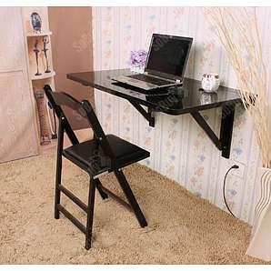 SoBuy® Wandklapptisch, Klapptisch, Esstisch, Küchentisch aus MDF, 100 x 60cm, Ohne Stuhl FWT06-SCH
