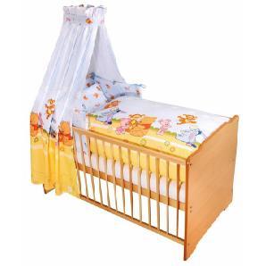 Disney Baby 7-tlg. Komplettbett, Babybett+ Matratze+ Himmelstange+ Himmel+ Nestchen+ Bettwäsche