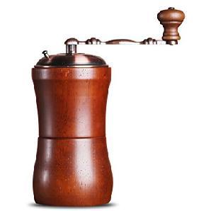 Kleine manuelle Kaffeemühle Eisen Vintage Style Hand Home Holz Kaffeemühle