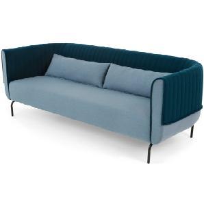 Bienno 3-Sitzer Sofa, Taubenblau und Petrolblau