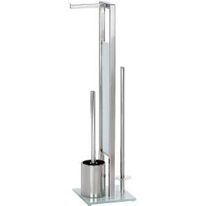 WC-Garnitur Rivalta - Stahl - Silber, Wenko
