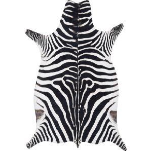 Zebrafell (synthetisch) in schwarz