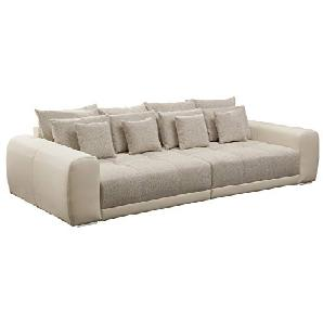 Außergewöhnliches XXL Sofa Big SAM in Trendfarbe Greige