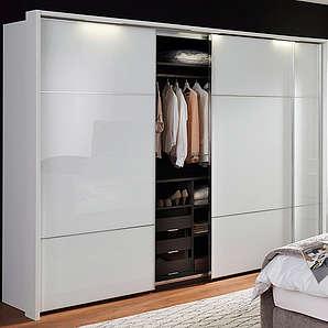 NOLTE® MÖBEL nolte Möbel Schwebetürenschrank Marcato 3 mit Fronten aus Weißglas  Front Weißglas