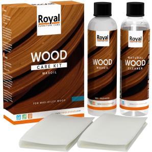 ROYAL Holzpflege Wood Starter Kit Wax Oil + Cleaner 2x75ml