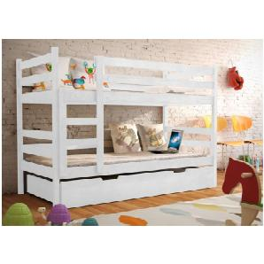JUSTyou NEMO Etagenbett Kinderbett 190x85x150 cm Weiß