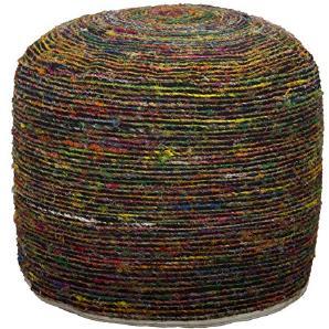 Mauro Ferretti Madagascar Puff rund, Leinwand, mehrfarbig, 50x 50x 40cm