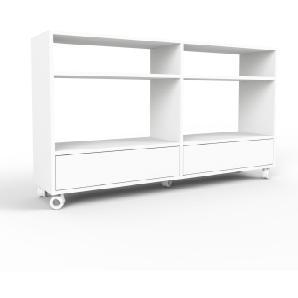 Bücherregal Weiß, Spyn Beine, MDF, 152 x 87 x 35