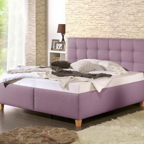 Home affaire Boxspringbett mit oder ohne Matratze in 2 Ausführungen H2, lila, Bettgestell ohne Rollrost und Matratze »Timmy«