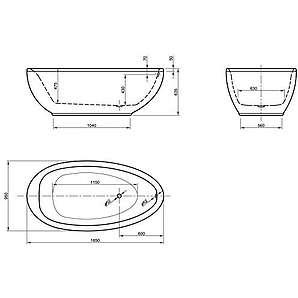 195 freistehende badewannen online kaufen seite 2. Black Bedroom Furniture Sets. Home Design Ideas