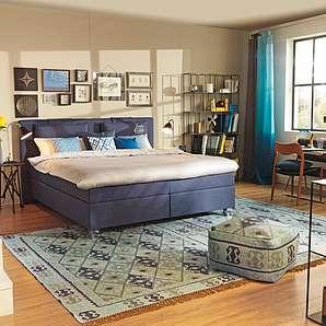 betten in blau online vergleichen m bel 24. Black Bedroom Furniture Sets. Home Design Ideas