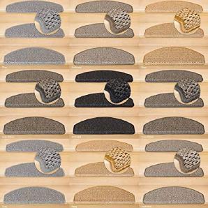 Kettelservice-Metzker® Stufenmatten Göteborg Halbrund | in verschiedenen Setvarianten | 65x24x3,5cm | Grau 15 Stück