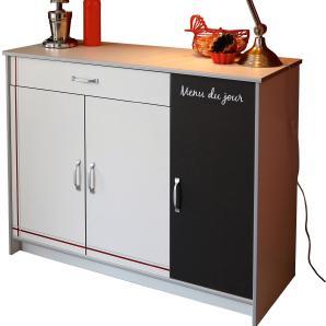 Parisot Küchenschrank Bistrot III Weiß-Braun