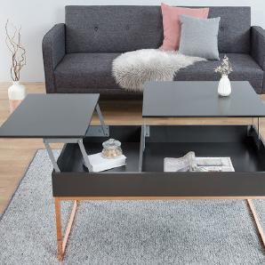 Shop: Riess Ambiente   Moderner Couchtisch Mit Ausklappbarer Tischplatte|so  Ist Bequemes Essen Und Arbeiten Vom Sofa Aus Kein Problem|mit Zusätzlichem  St