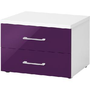 Nachtkommode   lila/violett   50 cm   42,5 cm   39,5 cm   Möbel Kraft
