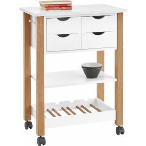 k chenwagen in weiss online vergleichen m bel 24. Black Bedroom Furniture Sets. Home Design Ideas