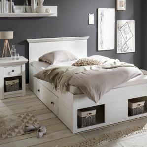 Home affaire Bett weiß, 140/200 cm, »California«, FSC®-zertifiziert