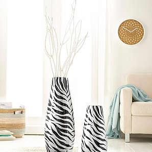 Deko-Vase in 2 Größen HOME AFFAIRE schwarz
