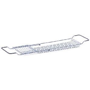 Zeller Badewannenablage, ausziehbar, Metall verchromt, 65,5x4x15,5 cm
