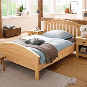 Home affaire Bett aus massiver Kiefer »Chic« beige, 180/200 cm, FSC®-zertifiziert