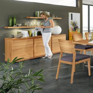 VENJAKOB Sideboard »v-plus«, 2-türig, mit Schubladen, Breite 200 cm