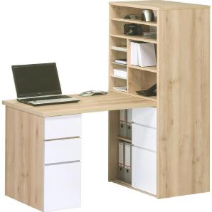 Kompakt Büro Buchefarben, Weiß