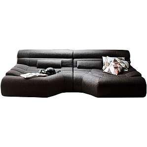 Kasper-Wohndesign XXL Big Sofa Stoff inkl. Kissen versch. Farben »TARA«