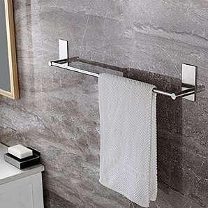 Weare Home gebürstete oberfläche Silbern Einfach Modern Einzeln Handtuchstange Handtuchhalter kleben für Badezimmer Dusche Küche aus Hochwertig Edelstahl ohne Bohren, 40cm