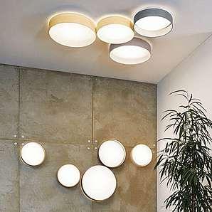 Licht-Trend Deckenleuchte »Palo LED Lampe mit Textilschirm in Grau«