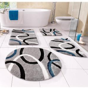 Badematte »Fiona« my home, Höhe 20 mm, rutschhemmend beschichtet, fußbodenheizungsgeeignet