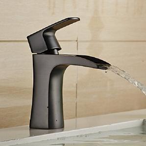 TougMoo Förderung Messing schwarz Wasserfall Armatur BAD Waschbecken Wasserhahn Square Waschbecken Wasserhahn Mixer