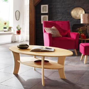 Home affaire Couchtisch »Lenne«, Oval mit Ablage