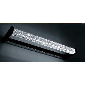 Flashing- Moderne minimalistische LED Spiegelleuchten Kristalllampe Spiegelschrank Badezimmerspiegel-Leuchten wasserdicht ( Farbe : Schwarz , größe : 45 cm )