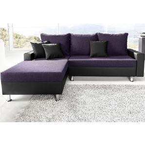 sit&more Polsterecke lila, Recamiere links, FSC®-zertifiziert