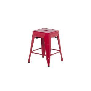 Hocker Rot - Sitzhocker - Tritthocker - Schemel - 38x38x46 cm - CABRILLO