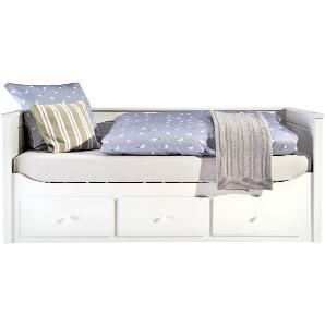 Landhaus-Tagesbett 90x200 mit Schubkasten - weiß Merton ¦ weiß ¦ Maße (cm): B: 97,7 H: 86 T: 210,7 Kindermöbel  Kinderbetten » Höffner