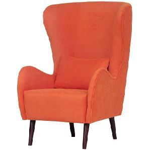 Ohrensessel Lola - Samt Orange - Stoff Luta Orange, loftscape