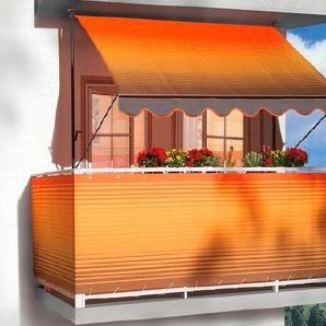 ANGERER FREIZEITMÖBEL Balkonsichtschutz , Meterware, orange-braun gestreift