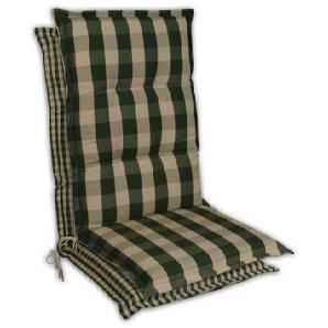 : Sesselauflage, Beige, Dunkelgrün, B/H/T 50 9 120