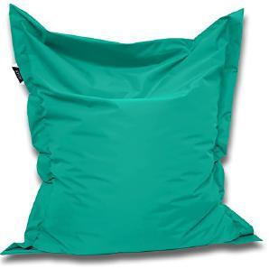 Patchhome Sitzsack und Sitzkissen Eckig - Türkis - 180x145cm in 25 Farben und 7 versch. Größen