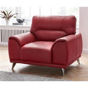 Cotta  Sessel, rot, B/H/T: 112x46x60cm, hoher Sitzkomfort