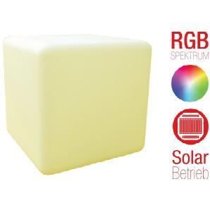 Telefunken Solar-Gartenleuchte - mit RGB Farbwechsel »Cube 30 - T90224«