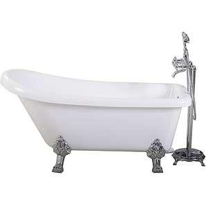 Sanotechnik Badewanne Empire freistehend, Farbe: weiß