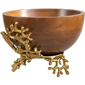 Dekoschale, goldfarben, Gr. H/Ø ca. 18/25,5 cm,  home