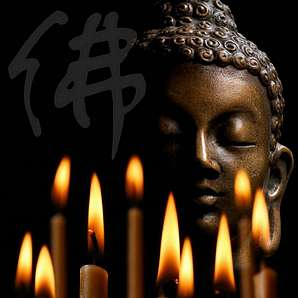 HTI-Living LED Bild »Buddha«
