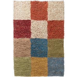 Hochflor-Teppich, bunt, Gr. ca. 90/160 cm,  home