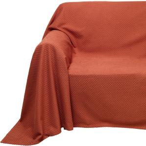 Sesselüberwurf, orange, Gr. ca. 160/190 cm, PEREIRA DA CUNHA, 100% Baumwolle