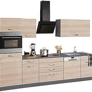 HELD MÖBEL Küchenzeile York mit E-Geräten Breite 300 cm natur